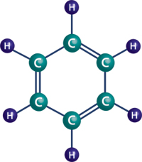 picture of benzene ring.